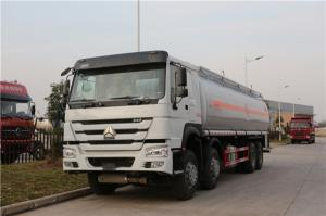 China HOWO 8x4 30Cbm Fuel Delivery Truck With API Manhole , Petrol Diesel Oil Transport Truck on sale