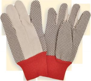 China cotton pvc dots knit sewing gloves on sale