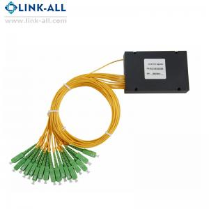 China 1x16 ABS Box Package fiber PLC Splitter module with SC/APC connector on sale
