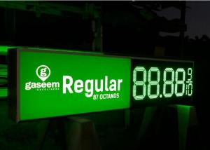 China Green Color 18 Inch Cree Chip Led Gas Price Sign With 520-529nm Wavelength on sale