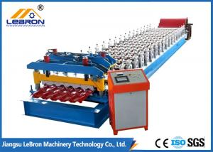 China Color Steel Glazed Tile Roll Forming Machine 16 Stations High Production Efficiency on sale