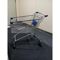 China Carretilla de las compras del alambre del hierro plateado de Chrome/carro de la compra movible del alambre de la mano de la tienda on sale