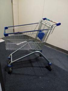 China Trole da compra do fio do ferro chapeado de Chrome/carrinho de compras móvel do fio da mão da loja on sale