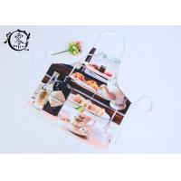 Polyester Digital Printed Houseware Items Canvas Kitchen Apron With Pockets Grilling Baking