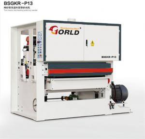 China BSGKR-R13 Two Heads Fast Speed Feeding Plywood Veneer Finishing Polishing Sanding Machinery on sale