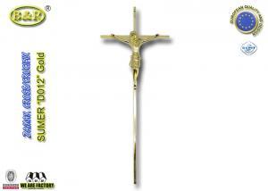 China Décoration croisée funèbre de couleur d'or, taille ornementale 45*18cm de la croix D012 on sale