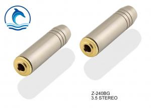 China Z-240BG 3-pole 1/8 (3.5mm) cable jack with a black metal handle and gold-plated contacts on sale