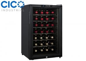 China Upright 28 Bottle Thermoelectric Wine Cooler Blue LED Interior Light on sale
