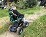 China OB-EW-002 beach wheelchair wholesale
