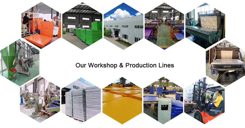 workshop and production lines of fluted plastic sheet factory