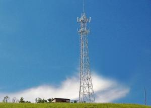 China Telecom 40 Meter Wireless Cell Tower , 4 Angle Steel Iron Self Supporting Lattice Mobile Telecom Tower on sale