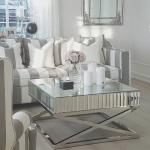 Contemporary design X shape Mirrored Stainless Steel Side Table Console table