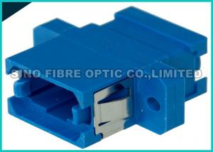 China Blue Single Mode Fiber Optic Adapter Simplex MPO MTP Adapter Zirconia Sleeve on sale