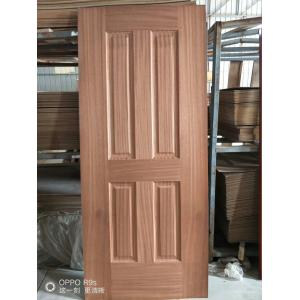 Low Moisture Content Decorative Door Skins , Door Veneer Skins Natural Sapele Moulded