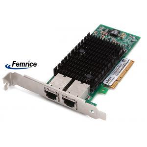 China Femrice 100/1000/10000Mbps Dual Port Gigabit Ethernet PCIe x8 Server Adapter Intel X540 RJ45 Slots Network Controller on sale