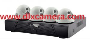 China Indoor 1080TVL 4chs Analog IR dome camera DVR kit with 10inch display Dome camera 10inch display DVR cctv camera kit on sale