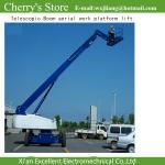 Elevación telescópica de la plataforma de trabajo aéreo del auge/encima de la elevación