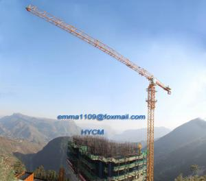 China Big 20t Load Flat Top Tower Crane PT7532 Model Cat Head Type on sale