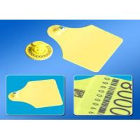 China Electronic Cattle Tracking Ear Tags , Sheep / Cow Ear Tags 350N Tension on sale