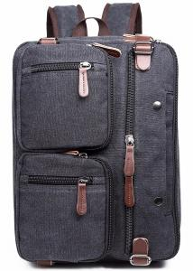 China Iron Grey Polyester Laptop Bag With Pockets Drop Resistance Large Capacity on sale