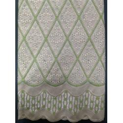 China Hand-cut/ Holes Swiss Cotton Lace Fabric With Cotton Embroidery/ Swiss Cotton for sale