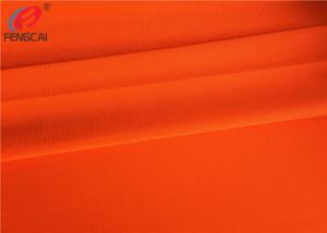 China Uniform Workwear Fluorescent Material Fabric Warp Knitting EN20471 Anti Pilling on sale