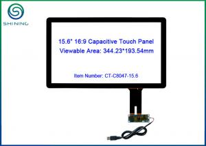 China RS232 / I2C USB Touch Screen Panel With Projected Capacitive Technology 15.6 Inch on sale