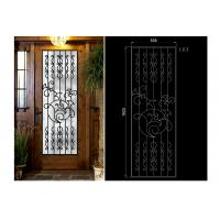 Decorative Iron And Glass Doors For Entry Doors 15.5*39.37 / Custom Size