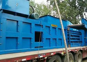China Waste paper cardboard plastic horizontal scrap automatic baler on sale
