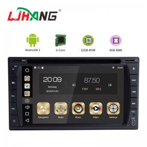 China Multipoint Screen Double Din Dvd Player , PX6  8core Android Car Dvd Player Gps Navigation on sale