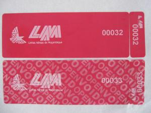 China Non-residue Tamper Evident Security Labels With 80g Glassine Paper For Bank  ATM Machine on sale