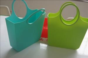 China Customized Silicone Shopping Bag handbags , eco friendly shopping bags on sale