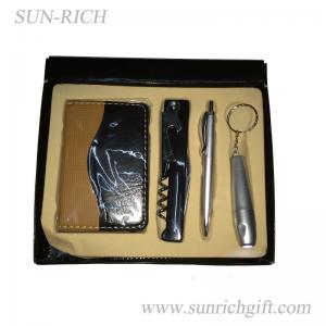 China 4 pcs gift set telphone contact book / wine opener set/ ball pen, Silver light set on sale