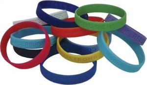 China 2012competitive promotion silicone soft rubber slap bangles with ruler on sale