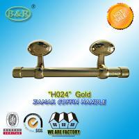 Egg Design Italy quality Metal Coffin bar zamak coffin hardware H024 size 25*10cm Gold Color