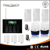 Black GSM LCD touch screen Wireless Security Alarm System with APP for house