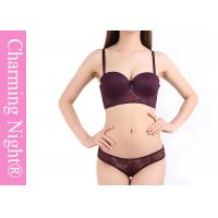 China Elegant Mature Ladies Bra Sets , Transparent ladies panties and bra set on sale