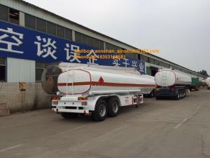 China 2 Axles Oil Fuel Tank Trailer Heavy Duty Semi Trailers Q345 Carbon Steel Material on sale
