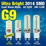 3014 o candelabro da C.A. 220V 3W 3.5W de SMD conduziu a luz de bulbo eficiente do milho do diodo emissor de luz da iluminação de bulbo G9