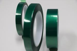 China High temperature PET Silicone green tape for PCB Solder Mask on sale