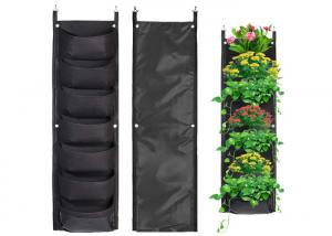 China Vertical Hanging Wall Felt Garden Planter With Roomy Pockets For Herbs Or Flowers on sale