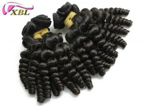 China Philippine Waves Baby Curly Human Hair Extensions Clip In Black 12 - 26 , Feel Comfortable on sale