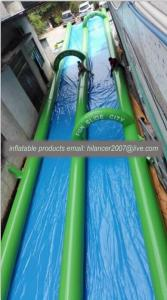 China 150ft inflatble single lane slide the city water slide on sale