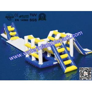 China Family  Inflatable Water Games , Lake Inflatable Ladder  / Runway on sale