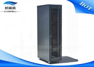 China FTTH  42U Stand Cabinet Fiber Optic Patch Box , Network Fiber Optic Cable Patch Panel on sale