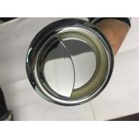 White Small Double Flush Toilet Button Circle Key Switch Customized Size