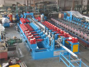 China Cr12 C Purlin Roll Forming Machine , Corrugated Iron Sheet Making Machine 550mm Coil Width on sale