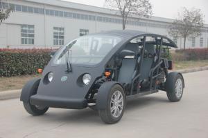 China Velocidad máxima eléctrica de encargo del vehículo utilitario 40KM/H del carro de golf de la persona del negro 4 on sale