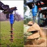 Accesorio de perforación de la máquina del taladro de tierra del excavador