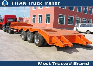 China 3 Axle 60 tons low bed heavy duty equipment trailers for construction machinery on sale